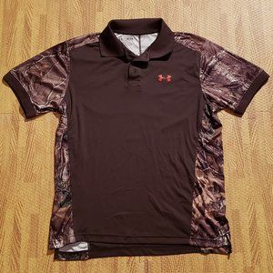Under Armour RealTree Camouflage Brown Polo Shirt